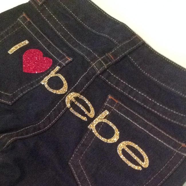 bebe Jeans Heart Red Gold Flare Pants Image 1
