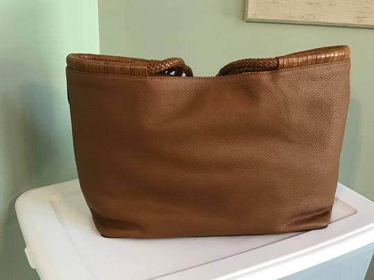 Tory Burch Tote in Saddle Image 4