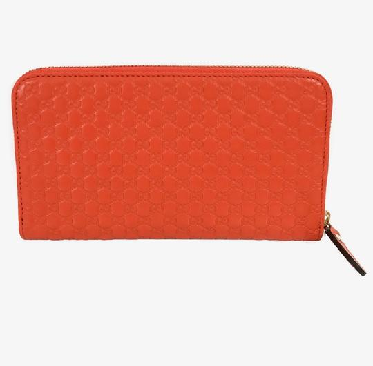 Gucci NEW GUCCI Microguccissima Zip Around Leather Wallet Image 2
