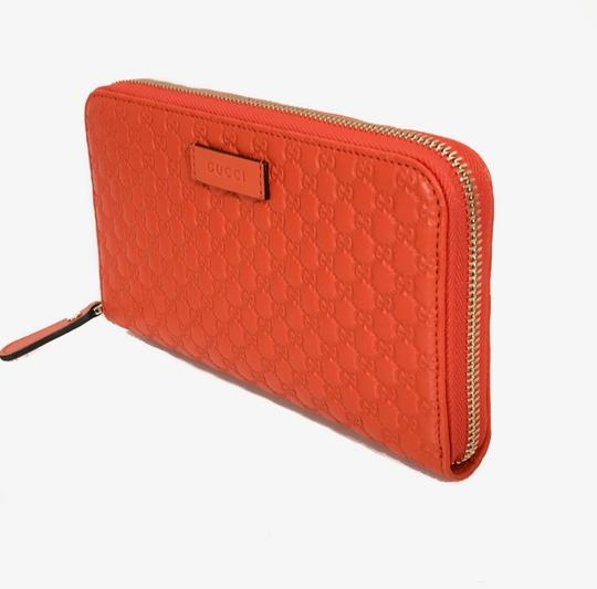 Gucci NEW GUCCI Microguccissima Zip Around Leather Wallet Image 3