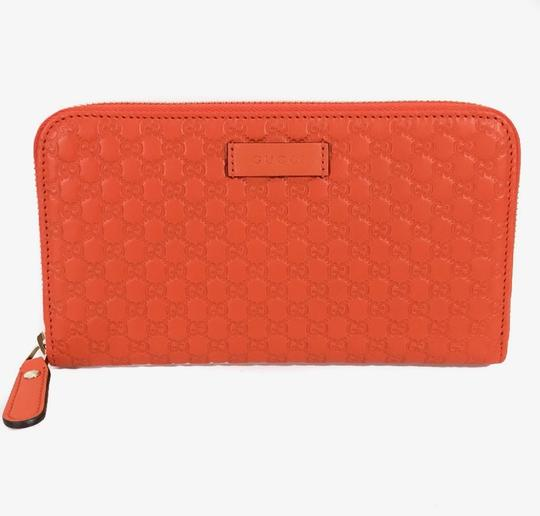 Gucci NEW GUCCI Microguccissima Zip Around Leather Wallet Image 4