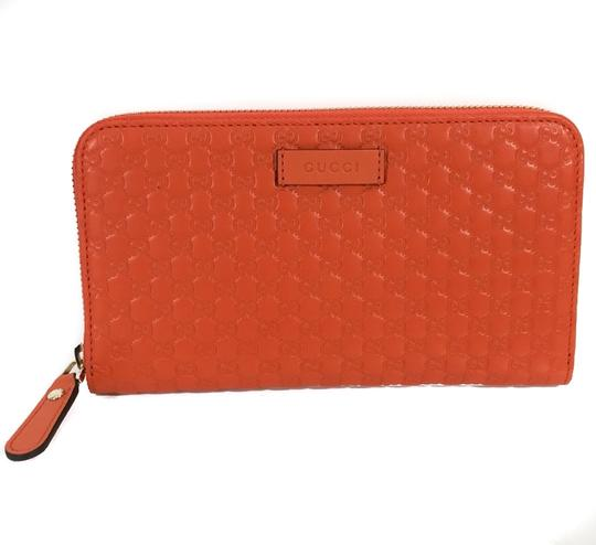 Gucci NEW GUCCI Microguccissima Zip Around Leather Wallet Image 7