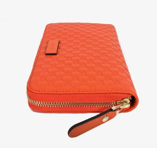 Gucci NEW GUCCI Microguccissima Zip Around Leather Wallet Image 8