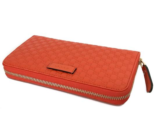 Gucci NEW GUCCI Microguccissima Zip Around Leather Wallet Image 9