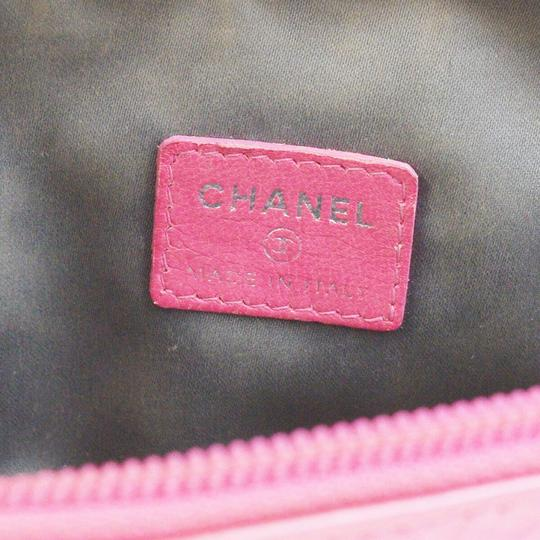 Chanel CHANEL CC Icon Quilted Cosmetic Pouch Image 8