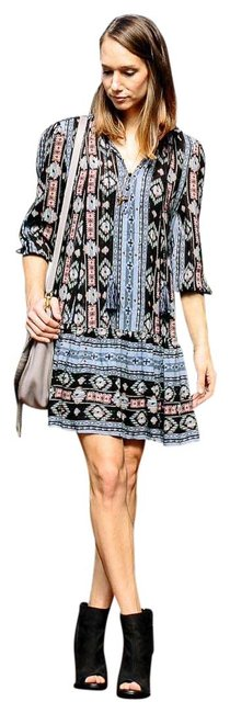 Item - Multicolor Winter Moon Tunic Mid-length Short Casual Dress Size 2 (XS)