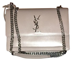 Yves Saint Laurent Silver Hardware Ysl Leather New Condition Cross Body Bag