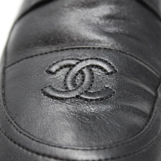 Chanel Lambskin Lace Combat Quilted Black Boots Image 7