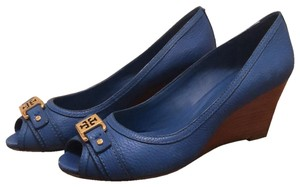 Tory Burch Cobalt Blue Wedges