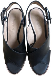 Madewell Black Leather Sandals