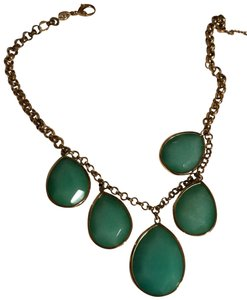 Fossil Fossil emerald and gold collar necklace