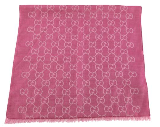 Gucci GG Guccissima Logo Print Wool & Silk Blend Scarf Image 0