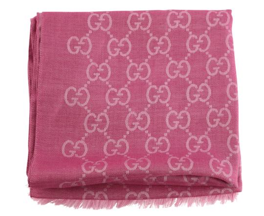 Gucci GG Guccissima Logo Print Wool & Silk Blend Scarf Image 1