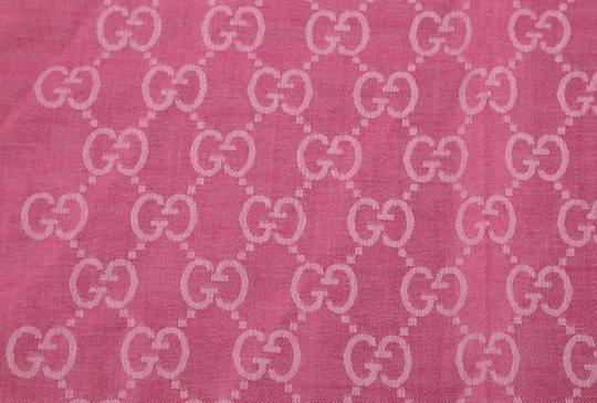 Gucci GG Guccissima Logo Print Wool & Silk Blend Scarf Image 2