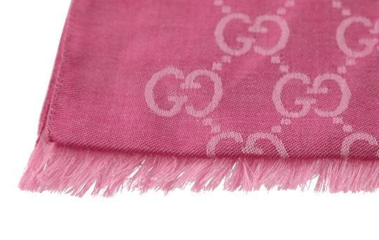 Gucci GG Guccissima Logo Print Wool & Silk Blend Scarf Image 5