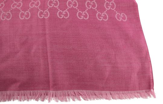 Gucci GG Guccissima Logo Print Wool & Silk Blend Scarf Image 6