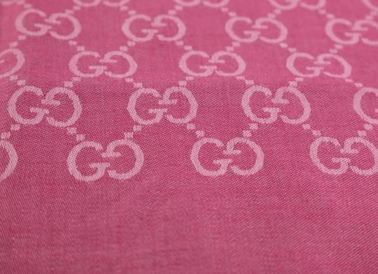 Gucci GG Guccissima Logo Print Wool & Silk Blend Scarf Image 7