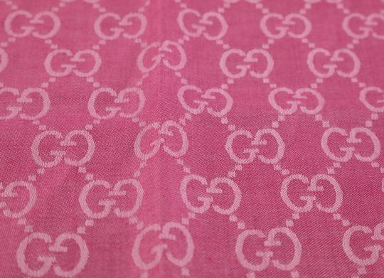 Gucci GG Guccissima Logo Print Wool & Silk Blend Scarf Image 8