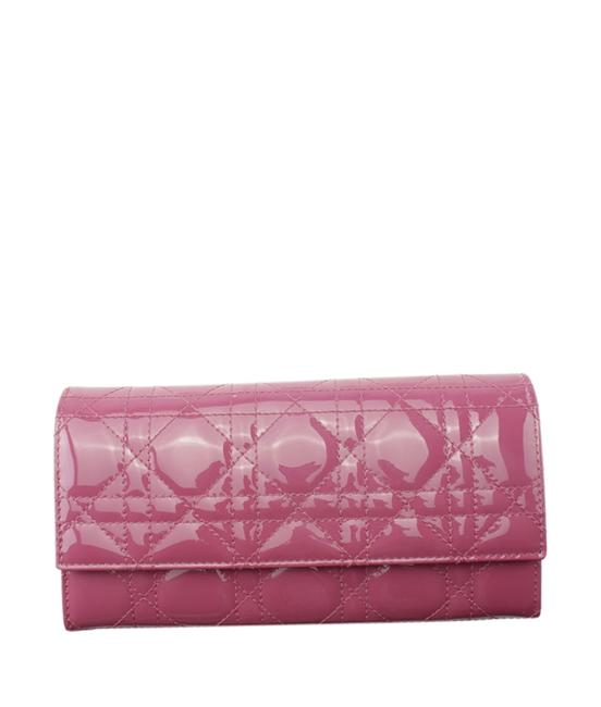 Item - Cannage Cannage Pochette (176725) Pink Patent Leather Clutch