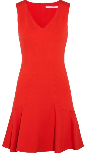 Item - Red Carla Mid-length Work/Office Dress Size 6 (S)