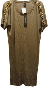 Khaki golden Maxi Dress by Alexandre Vauthier