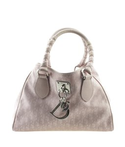 Dior Christian Canvas Tote in Pink