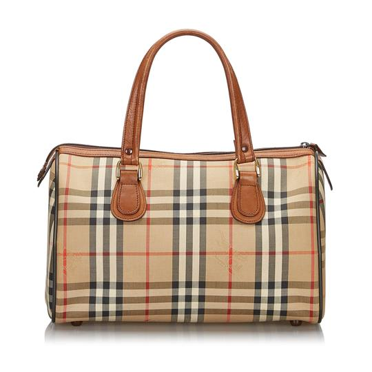 Burberry 9hbubo007 Vintage Canvas Leather Shoulder Bag Image 2