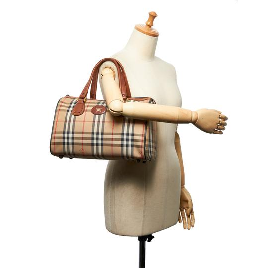 Burberry 9hbubo007 Vintage Canvas Leather Shoulder Bag Image 7