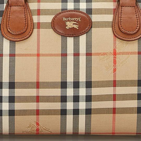 Burberry 9hbubo007 Vintage Canvas Leather Shoulder Bag Image 8