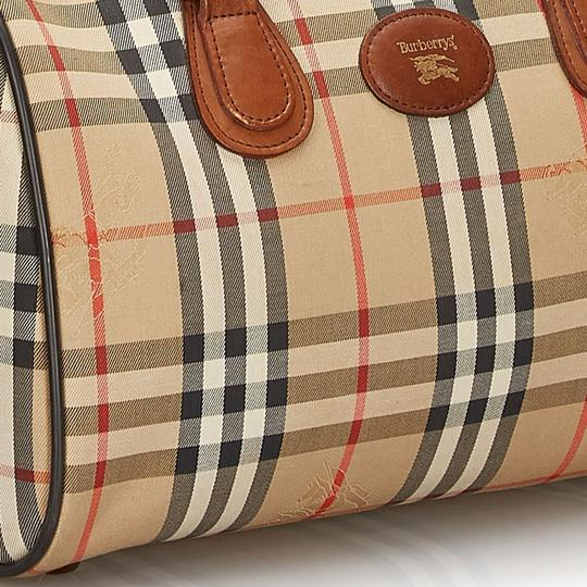 Burberry 9hbubo007 Vintage Canvas Leather Shoulder Bag Image 9
