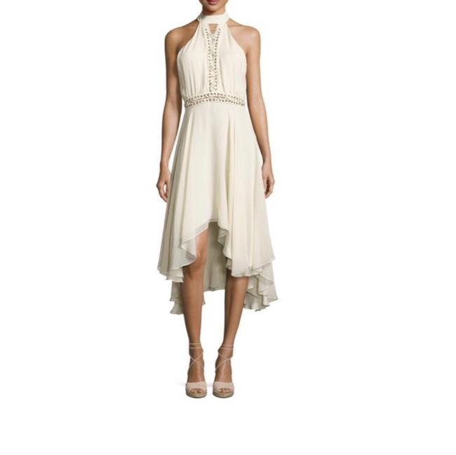 Item - Ivory Free Spirit Lace Up Silk Mid-length Night Out Dress Size 2 (XS)