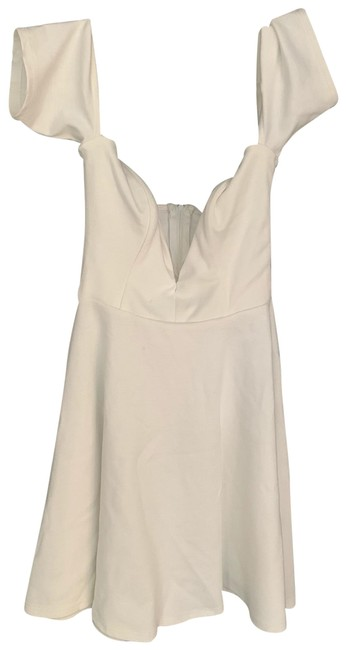 Item - White Small. Off The Shoulders (Open Shoulders). Super Cute But Has Two Small Spots As Shown Short Casual Dress Size 4 (S)