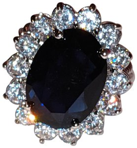 Kenneth Jay Lane New Kenneth Jay Lane Princess Diania Simulated Saphire Ring Size 7.5