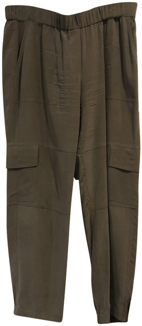 Item - Tan Hamtana Silk Pants Size 12 (L, 32, 33)