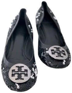 Tory Burch Black & Silver Wedges