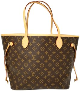 Louis Vuitton Neverfull Monogram New New Style Tote in brown, red