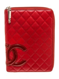 Chanel Chanel Red Quilted Calfskin Leather Large Cambon Ligne Agenda Planner