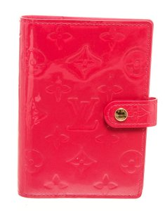 Louis Vuitton Louis Vuitton Pink Vernis Leather Small Ring Agenda Cover