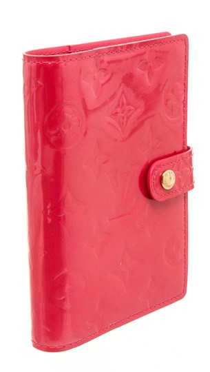 Louis Vuitton Louis Vuitton Pink Vernis Leather Small Ring Agenda Cover Image 1