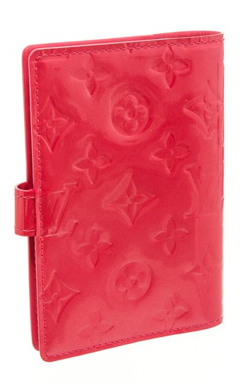 Louis Vuitton Louis Vuitton Pink Vernis Leather Small Ring Agenda Cover Image 2