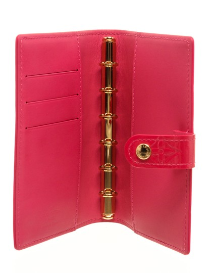Louis Vuitton Louis Vuitton Pink Vernis Leather Small Ring Agenda Cover Image 4
