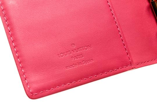 Louis Vuitton Louis Vuitton Pink Vernis Leather Small Ring Agenda Cover Image 5