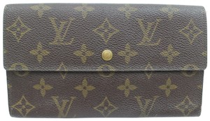 Louis Vuitton Monogram Trifold Sarah Long Wallet Portefeuille Tresor 871312