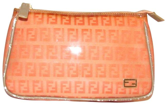 Item - Orange Zucchino Print Pouch/Cosmetic Bag/Wallet Cosmetic Bag