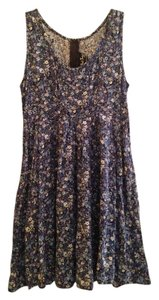 All That Jazz short dress Blue Floral Print on Tradesy