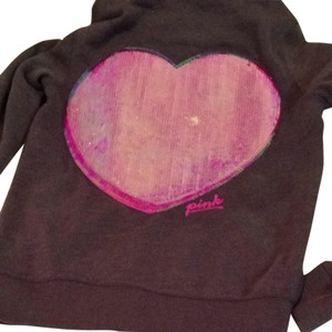 Victoria's Secret Vs Victorias Heart Pink Jacket Sequin Cute Sweatshirt