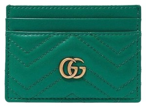 Gucci Marmont GG quilted leather card holder case