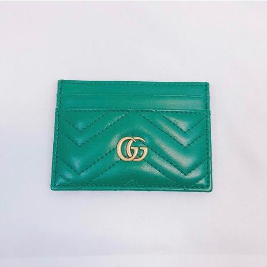 Gucci Marmont GG quilted leather card holder case Image 3