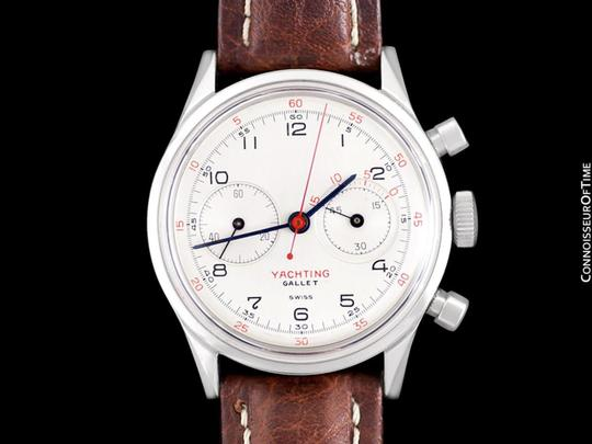 Gallet 1940's Gallet Multichron Yachting Vintage Mens Large Size Chronograph Image 1