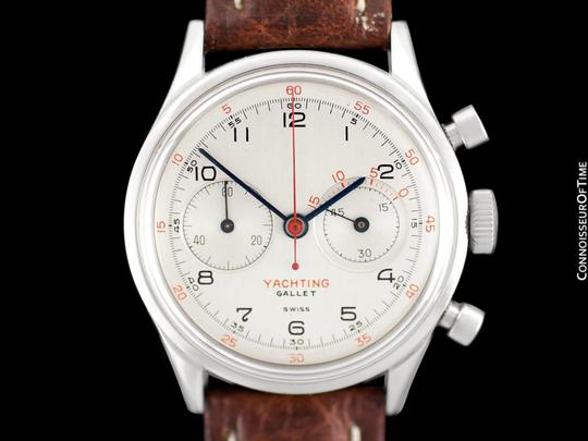 Gallet 1940's Gallet Multichron Yachting Vintage Mens Large Size Chronograph Image 2